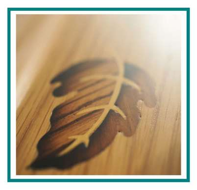 rotastyle casket manufacturer leaves in the wind American oak detail3