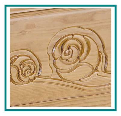 rotastyle casket manufacturer via delle rose engraved yellow pine detail1